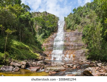 Toron waterfall, a favorite tourist destination of Gran Sabana region, in Canaima National Park, Venezuela