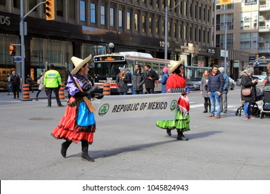 TORONTO –MARCH 11, 2018: St Patrick's Parade  on March 11, 2018 in Toronto, Canada