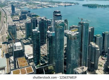 Toronto Aerial View - Main Canadian Metropolis
