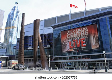 TORONTO - APRIL 20: Air Canada Centre has been recognized with more than 25 industry awards and as of February 2009, it had played host to over 26.8 million fans, on April 20 2012 in Toronto, Canada