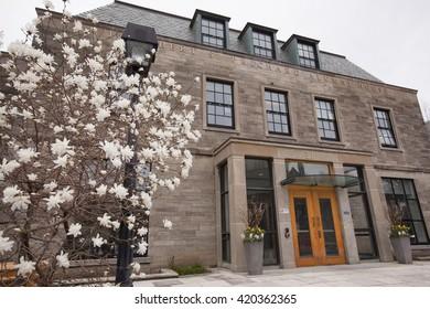 TORONTO - APRIL 28, 2016: The J. Robert S. Prichard Alumni House on the downtown campus of the University of Toronto.