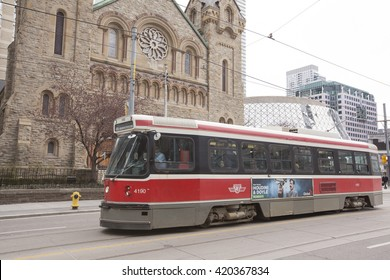 TORONTO - APRIL 28, 2016:The Toronto Transit Commission is a public transport agency that operates transit bus, streetcar, paratransit, and rapid transit services in Toronto, Ontario, Canada.