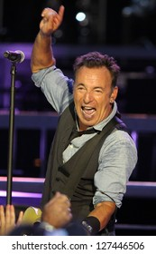 TORONTO - AUGUST 24:  Bruce Springsteen and the E Street Band perform at the Rogers Centre on August 24, 2012 in Toronto.
