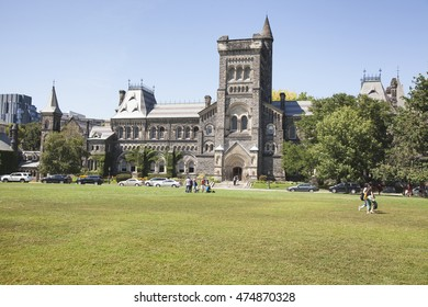TORONTO - AUGUST 8, 2016: The University of Toronto is a public research university in Toronto, Ontario, Canada, situated on the grounds that surround Queen's Park.