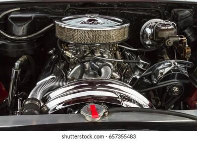 TORONTO - AUGUST: Classic car engine, Classic car street festival, Toronto, Canada on August 2013