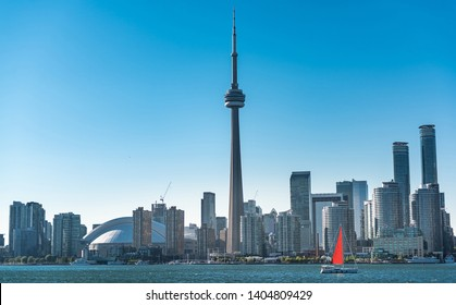 Toronto business city skyline in Ontario, Canada