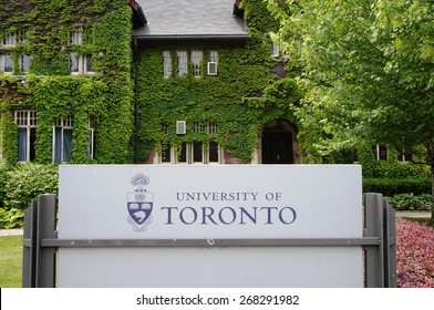 TORONTO, CA -10 JUNE 2014- Editorial: Founded in 1827 as King's College, the University of Toronto, located around Queen's Park, is ranked first academically among Canadian research universities.