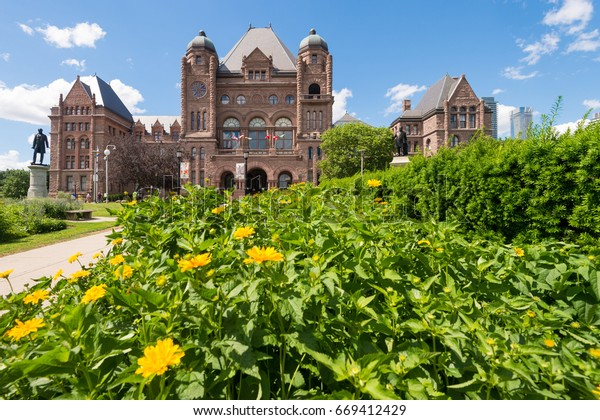 Toronto, CA - 24 June 2017: Ontario Legislative Building in Queen's park