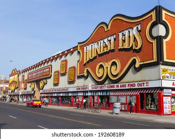 TORONTO, CANADA- 13TH MAY 2014: The outside of the Honest EDS Department Store along Bloor Street during the day