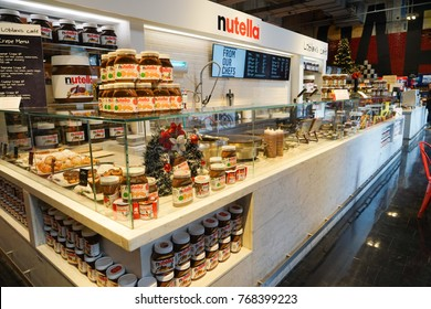 Toronto, Canada - 15 November 2017. Interior of Newly Opened Nutella Cafe