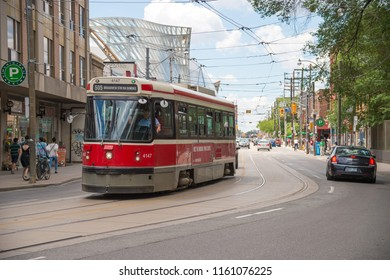 Toronto, Canada - 2 July 2016: Toronto streetcar system is operated by Toronto Transit Commission (TTC).