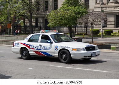 TORONTO, CANADA - 24TH MAY 2015: The outside of a Toronto Police Car during the day.