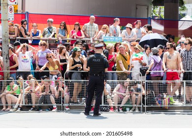 TORONTO, CANADA - 29TH JUNE 2014: Police Security for the World Pride Parade in Toront