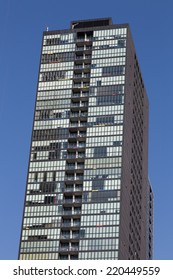TORONTO, CANADA - 29TH SEPTEMBER 2014: The outside of a modern Condo building in Toronto during the day