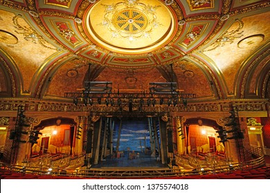 TORONTO, CANADA -30 MAR 2019- View of landmark heritage Elgin Theatre, the last surviving Edwardian stacked theatre in the world located in downtown Toronto, Ontario, Canada.