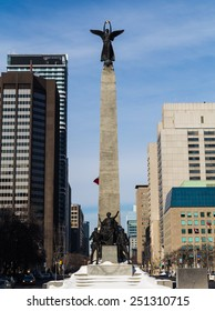TORONTO, CANADA - 6TH FEBRUARY 2015: The South African War Memorial along University Avenue in downtown Toronto
