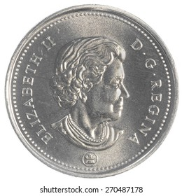 TORONTO, CANADA - APRIL 17, 2015: 50 canadian cents coin