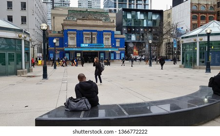 TORONTO, CANADA - APRIL 8, 2019: A view of King Street in Downtown Toronto, Canada.