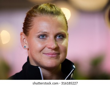 TORONTO, CANADA - AUGUST 10 :  Lucie Safarova poses for a promo shoot during the All Access Hour at the 2015 Rogers Cup WTA Premier 5 tennis tournament