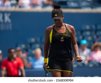 TORONTO, CANADA - AUGUST 10 : Naomi Osaka of Japan at the 2017 Rogers Cup WTA Premier 5 tennis tournament