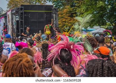 Toronto, Canada - August 2018: Caribana Toronto 2018 - from Grande Parade - costumes, performers