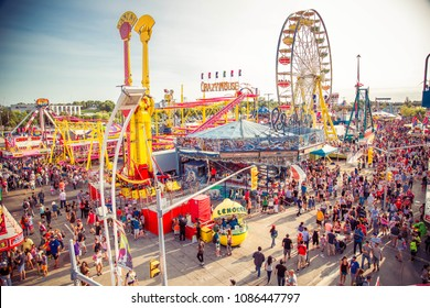 Toronto, Canada - August 22, 2015:The Canadian National Exhibition (CNE) also known as The Ex, is an annual event that takes place at Exhibition Place in Toronto, Ontario, Canada