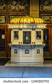 TORONTO, CANADA - AUGUST 24, 2017: Toronto Elgin and Winter Garden Theatres - the Last Edwardian Stacked Theatres in the World, a National Historic Site in Canada.