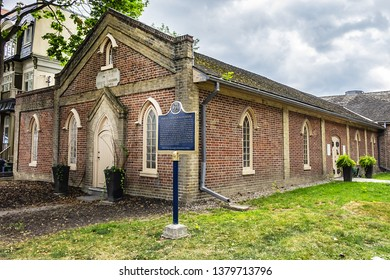 TORONTO, CANADA - AUGUST 24, 2017: Toronto Enoch Turner Schoolhouse (1843) building - beautiful heritage venue for weddings, corporate events and workshops, film shoots and receptions.