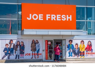 Toronto, Canada- August 26, 2018: Entrance to a Joe Fresh clothing store. Joe Fresh is a fashion brand and retail chain created by designer Joe Mimran for Canadian food distributor Loblaw Companies