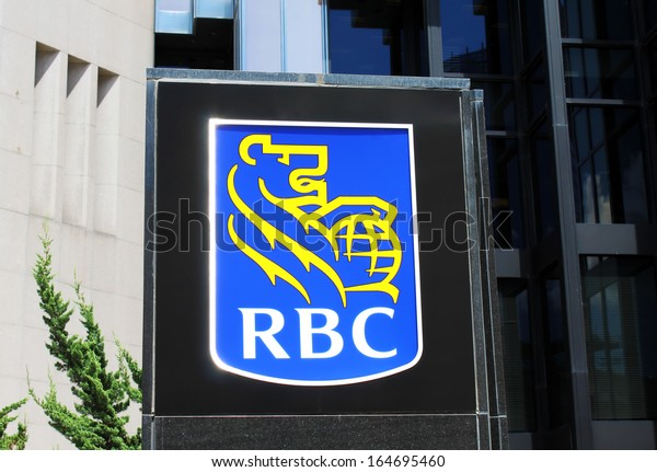 TORONTO, CANADA - AUGUST 4: Royal Bank of Canada sign on August 4, 2013 in Toronto, Ontario, Canada. RBC Royal Bank is the largest financial institution in Canada with 18 million clients worldwide.
