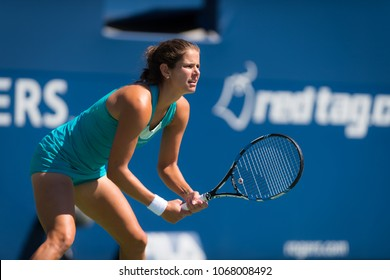 TORONTO, CANADA - AUGUST 8 : Julia Goerges of Germany at the 2017 Rogers Cup WTA Premier 5 tennis tournament