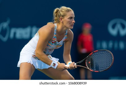 TORONTO, CANADA - AUGUST 8 : Timea Babos of Hungary at the 2017 Rogers Cup WTA Premier 5 tennis tournament