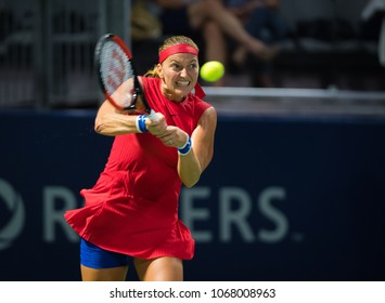 TORONTO, CANADA - AUGUST 9 : Petra Kvitova of the Czech Republic at the 2017 Rogers Cup WTA Premier 5 tennis tournament