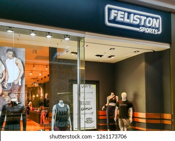 Toronto, Canada- December 17, 2018: Feliston Sports storefront at Fairview mall in Toronto.  Feliston is Toronto's premier athleisure apparel boutique.