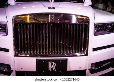 TORONTO CANADA - FEB 23 2019:  Rolls-Royce Cullinan - The first-ever SUV for Rolls-Royc at the Canadian International Auto Show, Toronto. The Cullinan is powered by a 6.75-litre twin-turbo V12 engine