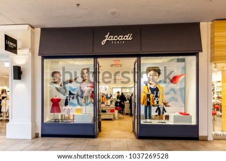 8ff197abe59c9c Toronto, Canada - February 12, 2018  Jacadi Paris storefront in Bayview  Village.
