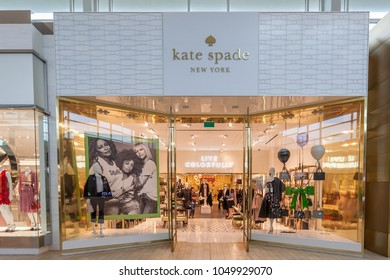 Toronto, Canada - February 23, 2018: Kate Spade New York  storefront in the shopping mall in Toronto, an American fashion design house.