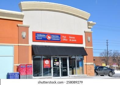 Toronto, Canada - February 24, 2015: Canada Post office.