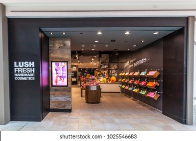 Toronto, Canada - February 7th, 2018: Lush Fresh storefront in the Fairview Mall in Toronto. Lush Retail is a cosmetics company headquartered in the United Kingdom.