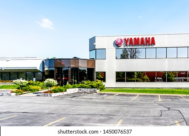 Toronto, Canada - July 13, 2019: Yamaha Motor Canada head office in Toronto. Yamaha Motor Company Limited is a Japanese manufacturer of motorcycles, marine products.