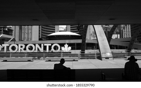 TORONTO, CANADA - JULY 24, 2020: Nathan Phillips Square in Downtown Toronto.