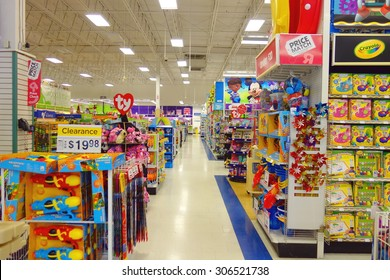 "TORONTO, CANADA - JULY 27, 2015: The inside of a Toys ""R"" Us store in Toronto, Canada."