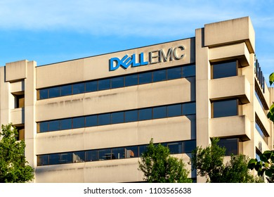Toronto, Canada - June 01, 2018: Dell EMC Canada head office building in Toronto.  Dell EMC is an American multinational corporation sells data storage, information security, virtualization, analytics