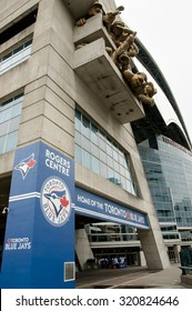 TORONTO, CANADA - June 1, 2015: Rogers Centre is home to the Toronto Blue Jays, the only Canadian team in Major League Baseball