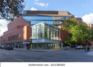 TORONTO, CANADA - JUNE 25, 2017: Exterior view of Toronto Reference Library, It is one of the three largest libraries in the city.