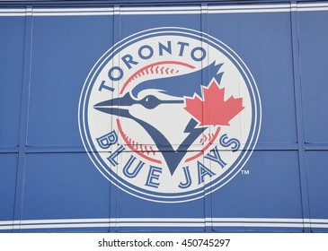 Toronto, Canada - June 28, 2016: Sign of Toronto Blue Jays.