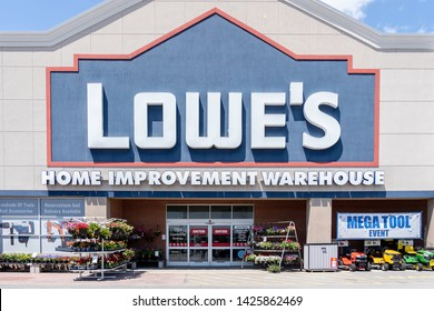 Toronto, Canada - June 6, 2019:  Lowe's store in Toronto, Canada.  Lowe's Companies, Inc. is an American retail company specializing in home improvement.