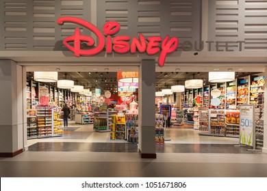 Toronto, Canada - March 17, 2018: Disney store front at Vaughan Mills in Toronto. The Disney Store is an international chain of specialty stores selling only Disney related items.