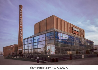 TORONTO, CANADA - MARCH 26, 2018:  Harbourfront Centre - The Power Plant  building at sunset