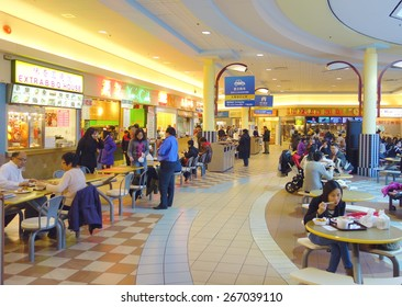 TORONTO, CANADA - MARCH 27, 2015: A food court in a Chinese shopping center in Toronto, Canada.